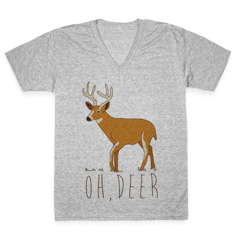 Oh Deer V-Neck Tee Shirt