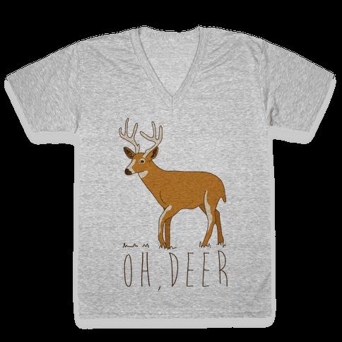 Oh Deer V-Neck Tee Shirt