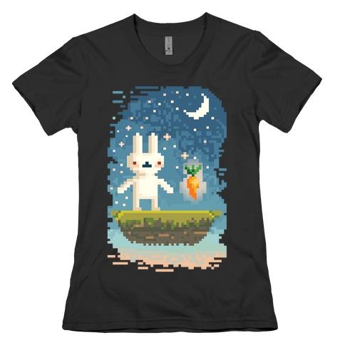 Pixel Bunny and Pixel Carrot Womens T-Shirt