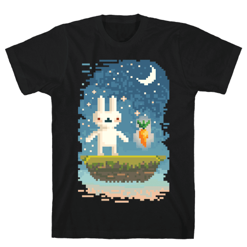 Pixel Bunny and Pixel Carrot Mens T-Shirt