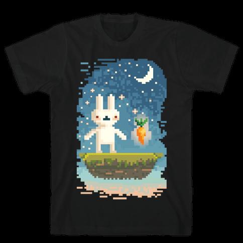Pixel Bunny and Pixel Carrot Mens T-Shirt