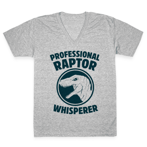 Professional Raptor Whisperer V-Neck Tee Shirt