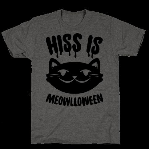 Hiss Is Meowlloween Mens T-Shirt