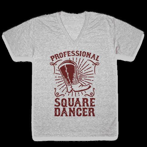 Professional Square Dancer V-Neck Tee Shirt