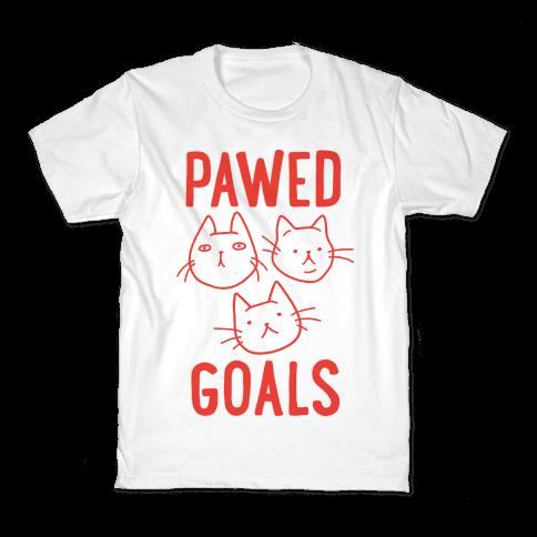 Pawed Goals Kids T-Shirt
