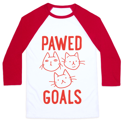 Pawed Goals Baseball Tee