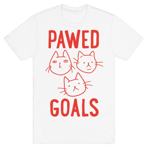 Pawed Goals Mens T-Shirt