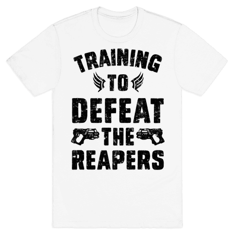 Training To Defeat The Reapers Mens T-Shirt