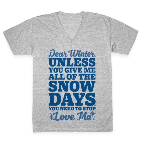 Snow Days V-Neck Tee Shirt
