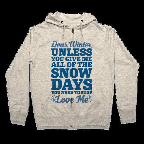 Snow Days Zip Hoodie