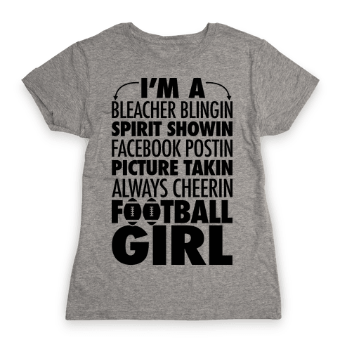 Football Girl Womens T-Shirt