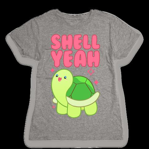 Shell Yeah Cute Turtle Womens T-Shirt