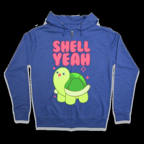 Shell Yeah Cute Turtle Zip Hoodie