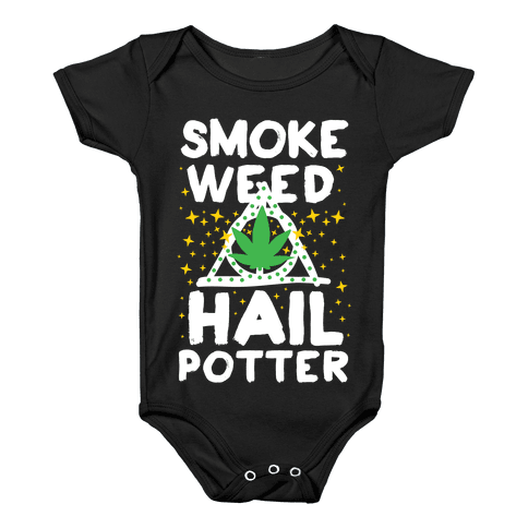 Smoke Weed Hail Potter Baby Onesy