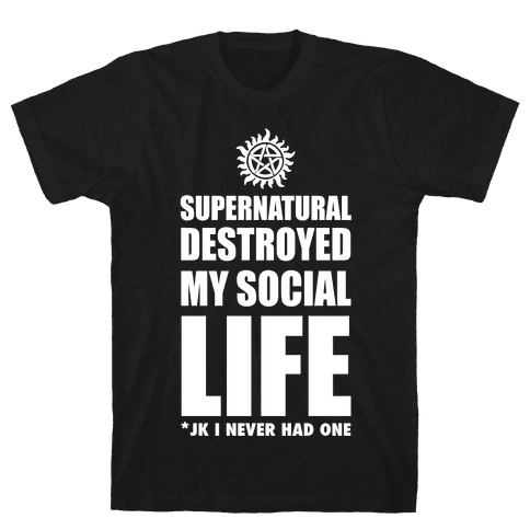 Supernatural Destroyed My Life Mens T-Shirt