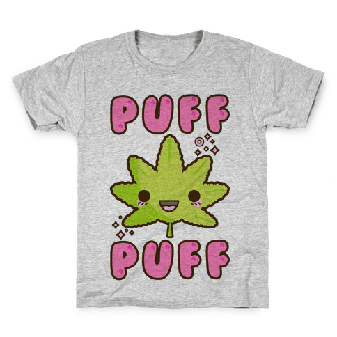 Puff Puff The Kawaii Pot Leaf Kids T-Shirt