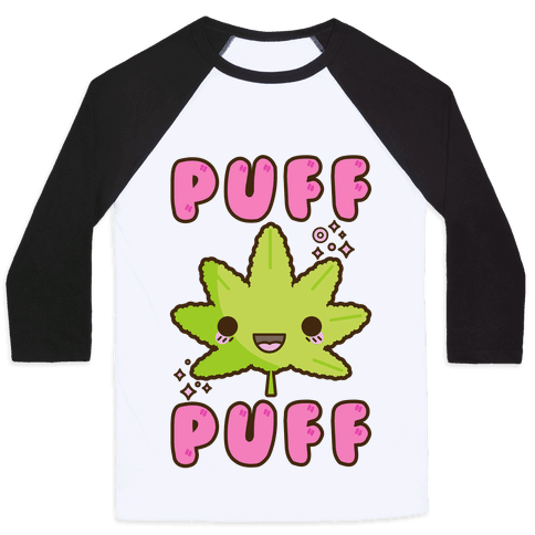 Puff Puff The Kawaii Pot Leaf Baseball Tee