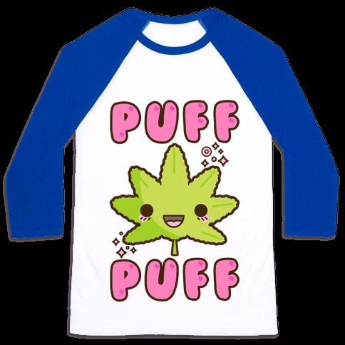 Puff Puff The Kawaii Pot Leaf Baseball Tee