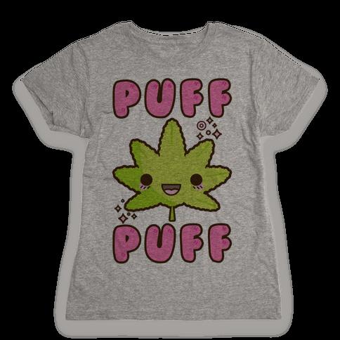 Puff Puff The Kawaii Pot Leaf Womens T-Shirt