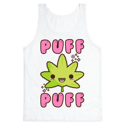 Puff Puff The Kawaii Pot Leaf Tank Top