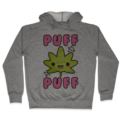 Puff Puff The Kawaii Pot Leaf Hooded Sweatshirt