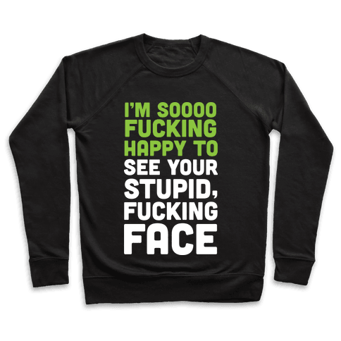 I'm Sooo F***ing Happy To See Your Stupid F***ing Face Pullover