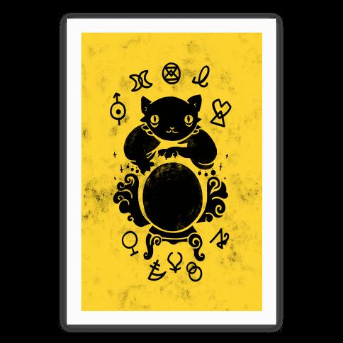Lucky Tarot Cat #13 Poster