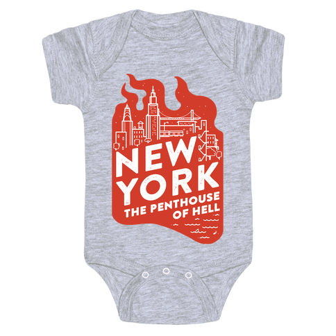 New York The Penthouse Of Hell Baby Onesy