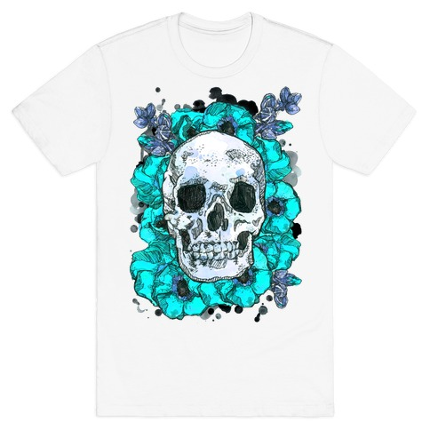 Skull on a Bed of Poppies T-Shirt