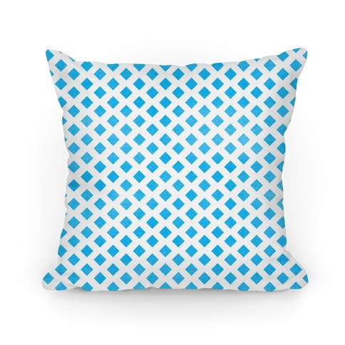 Blue Diamond Pattern Pillow