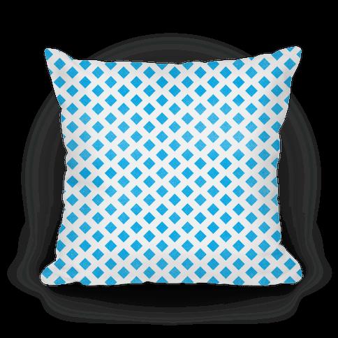 Blue Diamond Pattern Pillow