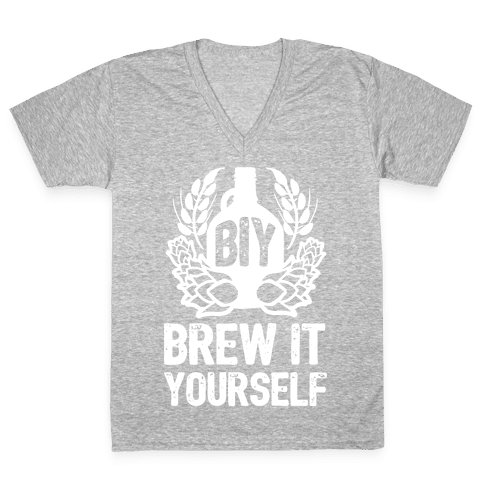 Brew It Yourself V-Neck Tee Shirt