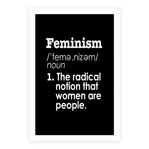 Captivating Feminism Definition Poster