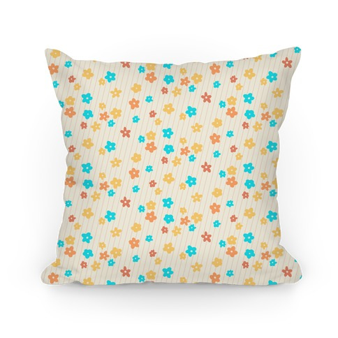 Little Floral Meadow Pattern Pillow
