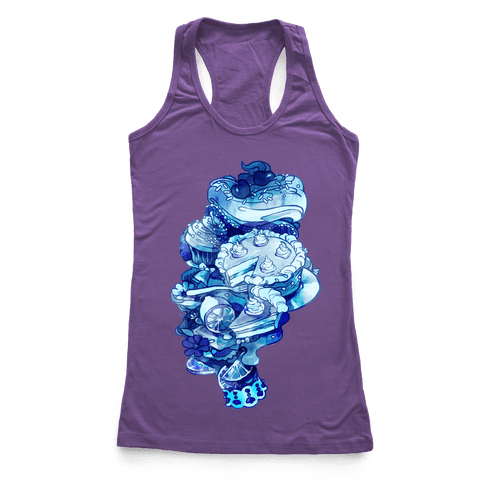 Marie Antoinette Cake and Sweets Racerback Tank Top