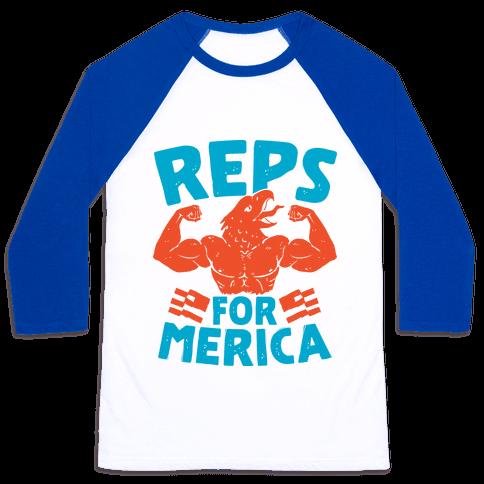 Reps For 'Merica Baseball Tee