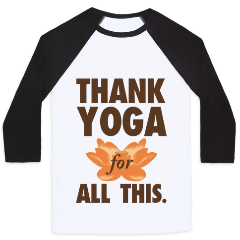 Thank Yoga Baseball Tee