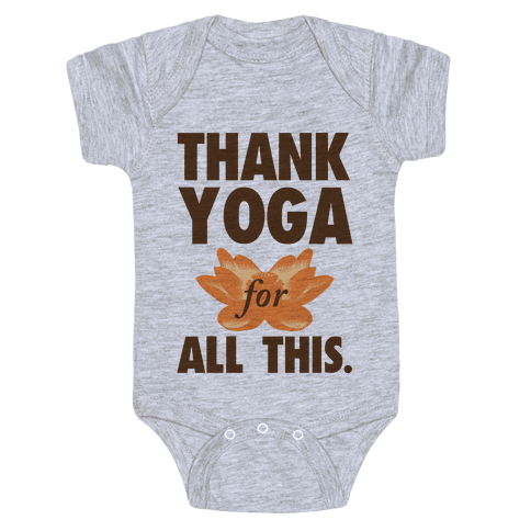 Thank Yoga Baby Onesy