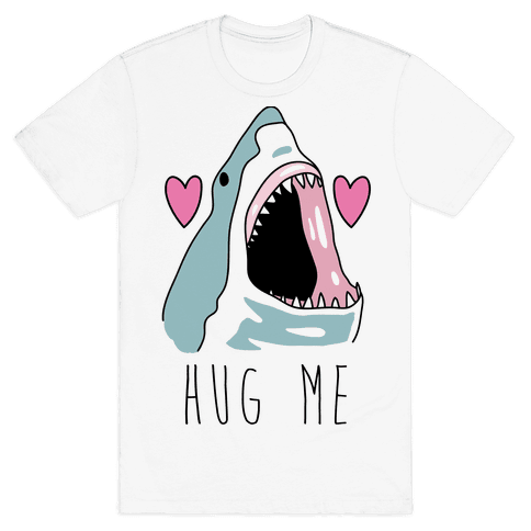 Hug Me Shark Mens T-Shirt