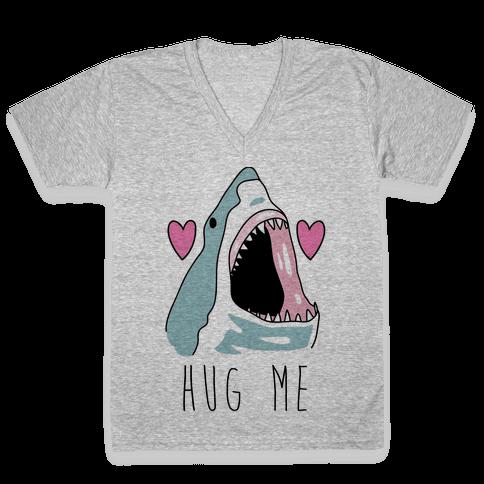 Hug Me Shark V-Neck Tee Shirt