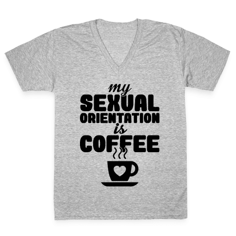 Sexual Coffee V-Neck Tee Shirt
