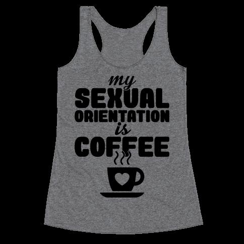 Sexual Coffee Racerback Tank Top