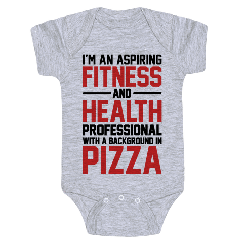 Professional Pizza Trainer Baby Onesy