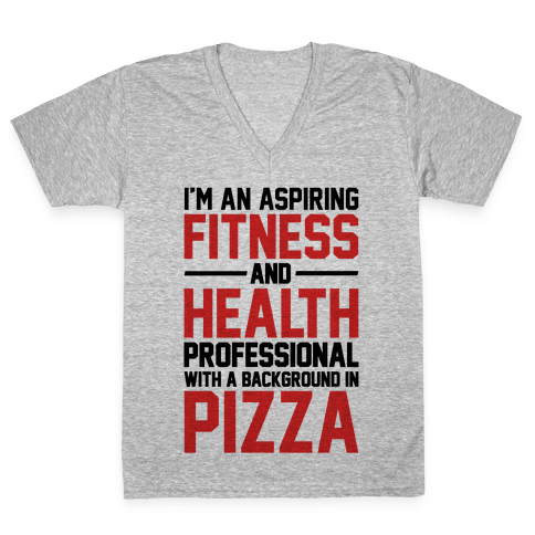 Professional Pizza Trainer V-Neck Tee Shirt