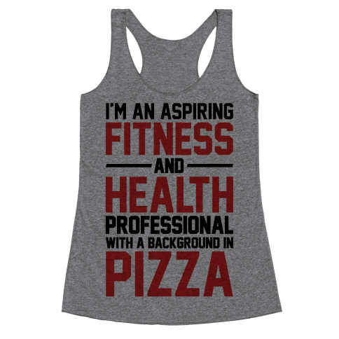 Professional Pizza Trainer Racerback Tank Top