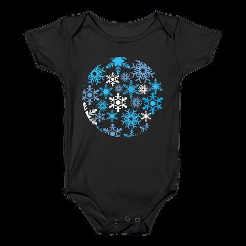 Snowflake Sphere Baby Onesy