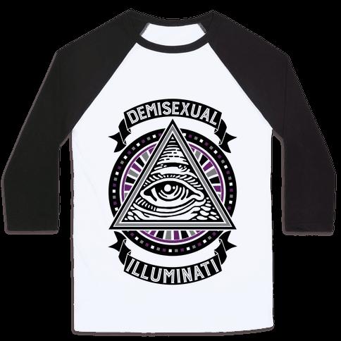 Demisexual Illuminati Baseball Tee