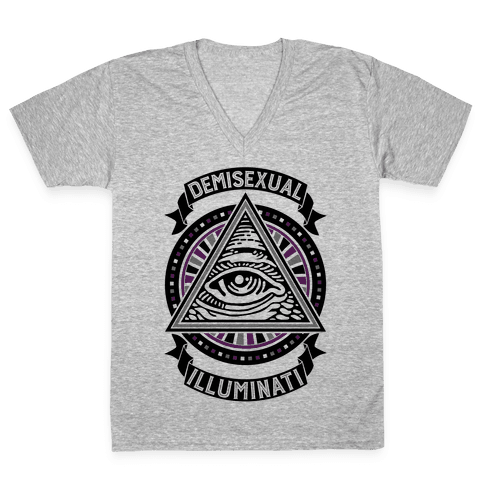 Demisexual Illuminati V-Neck Tee Shirt