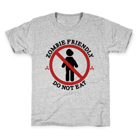 Zombie Friendly Kids T-Shirt