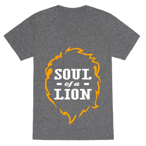Soul of a Lion V-Neck Tee Shirt